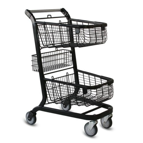 EXpress6000 two-tier wire convenience shopping cart