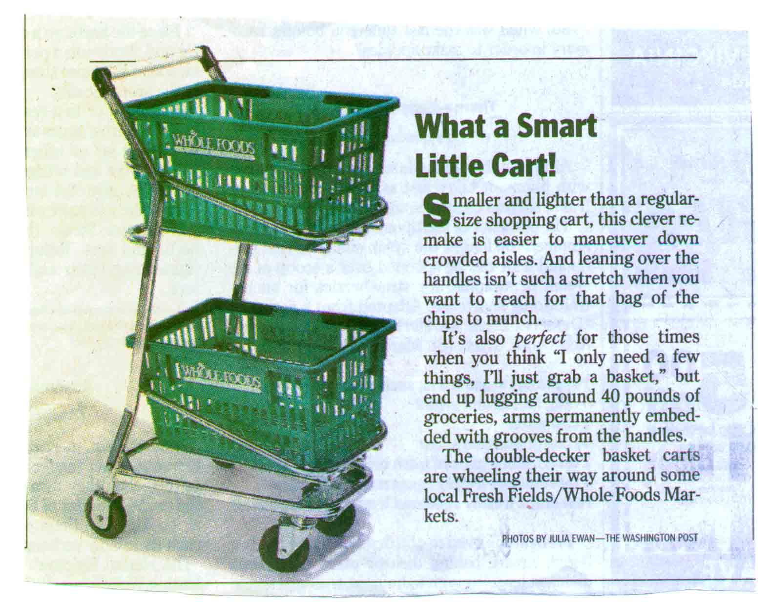 Smart Little Cart - EZcart Washington Post Article