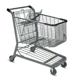 E-Series 180 Liter metal wire shopping cart