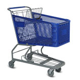 H-Series 165 Liter plastic shopping cart