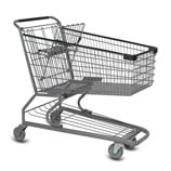 S-Series 180 Liter metal wire shopping cart