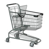 S-Series 85 Liter metal wire shopping cart