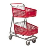 TT-100-S-T Plastic Convenience Shopping Cart