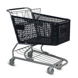 V-Series 172 Liter plastic shopping cart