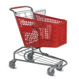 V-Series 72 Liter plastic shopping cart
