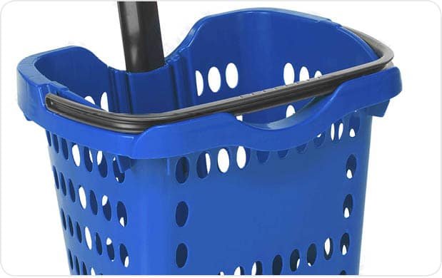 Click here for information on custom hand basket branding and logo