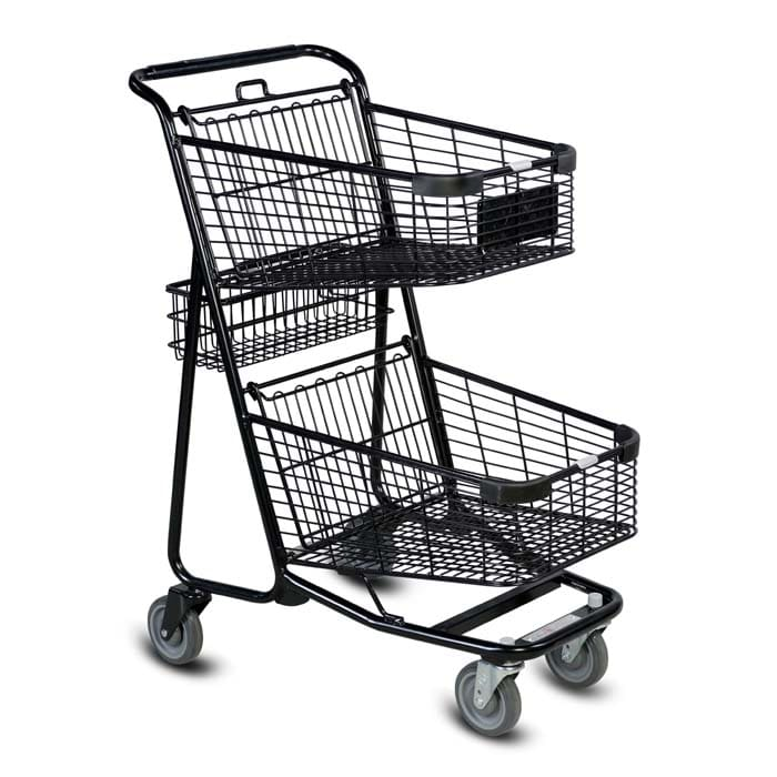 EXpress5050 Two-Tier Wire Shopping Cart - Versacart