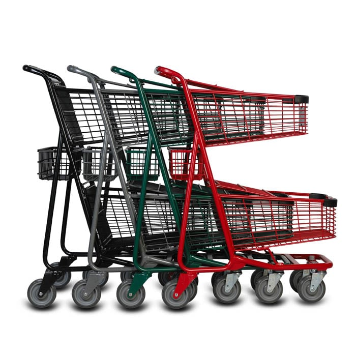 EXpress5050 two-tier metal wire shopping cart