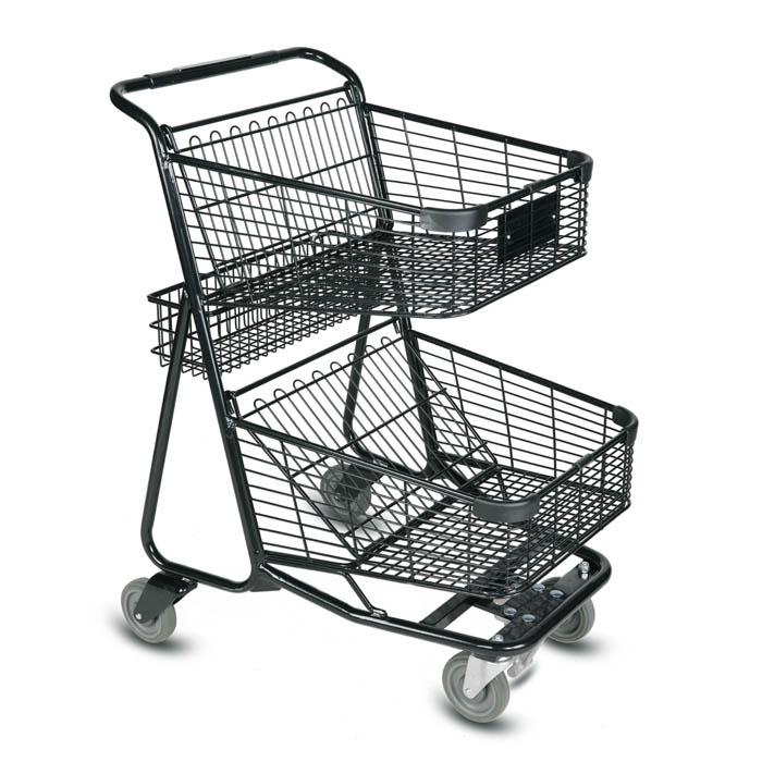 EXpress5900 Two-Tier Wire Shopping Cart - Versacart