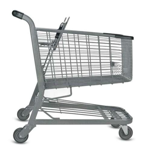 E Series 180 Liter Metal Wire Shopping Cart