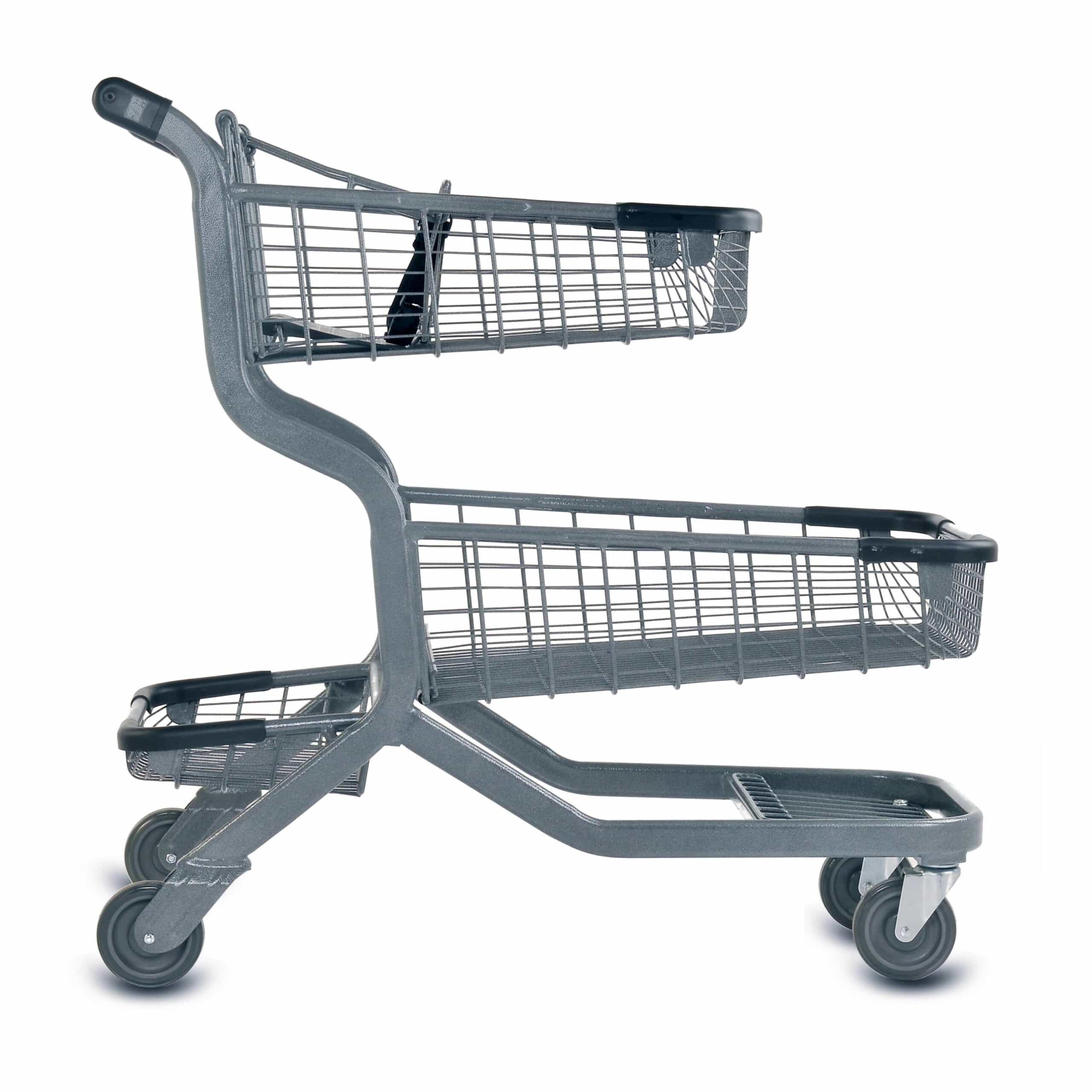 EXpress12000 Two-Tier Wire Shopping Cart - Versacart