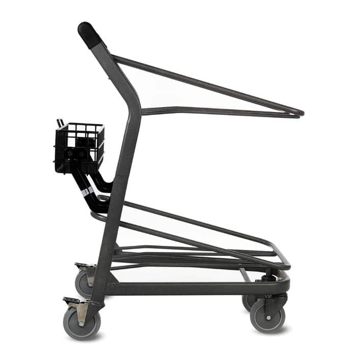 EZtote450 tote stocking material handling cart in metallic grey