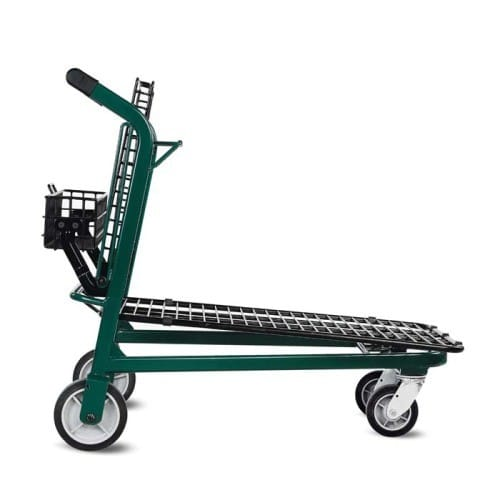 EZtote875 metal wire lawn and garden shopping cart in Dark Green/Black