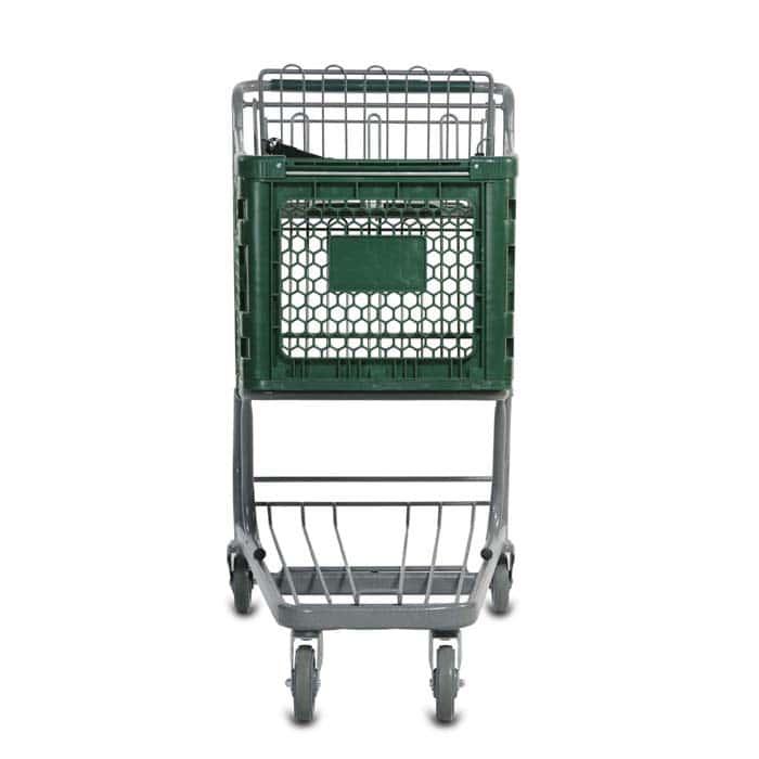 H Series 165 Liter Plastic Shopping Cart