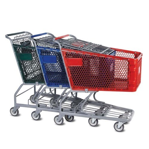 H Series 165 Liter Plastic Shopping Cart