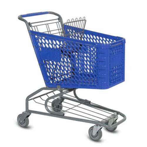V Series 100 Liter Plastic Shopping Cart