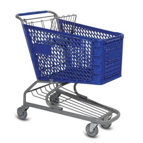V Series 145 Liter Plastic Shopping Cart