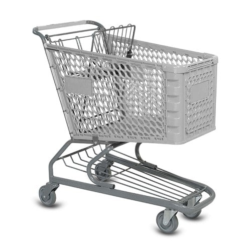V Series 145 Liter Plastic Grocery Shopping Cart