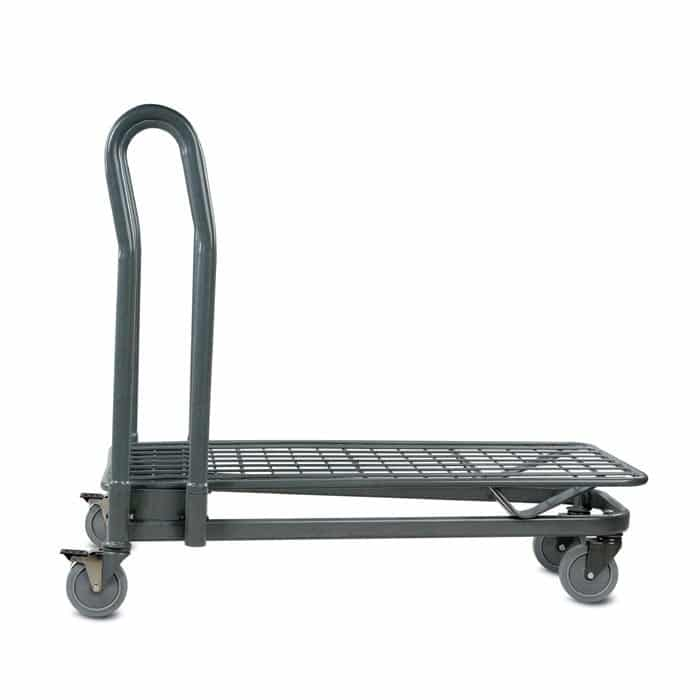 EZtote7150 metal wire material handling shopping cart in Grey