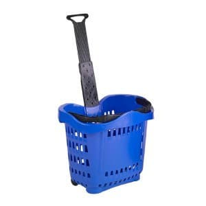 43 liter rolling shopping hand basket