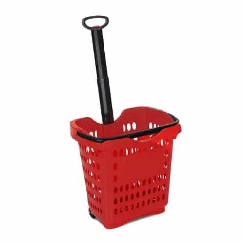 40 liter rolling shopping hand basket