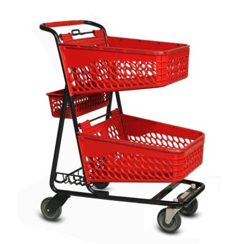 TT-100 two-tier plastic convenience shopping cart