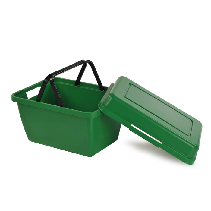 TerraBin plastic reusable hand basket alternative to cloth shopping bags