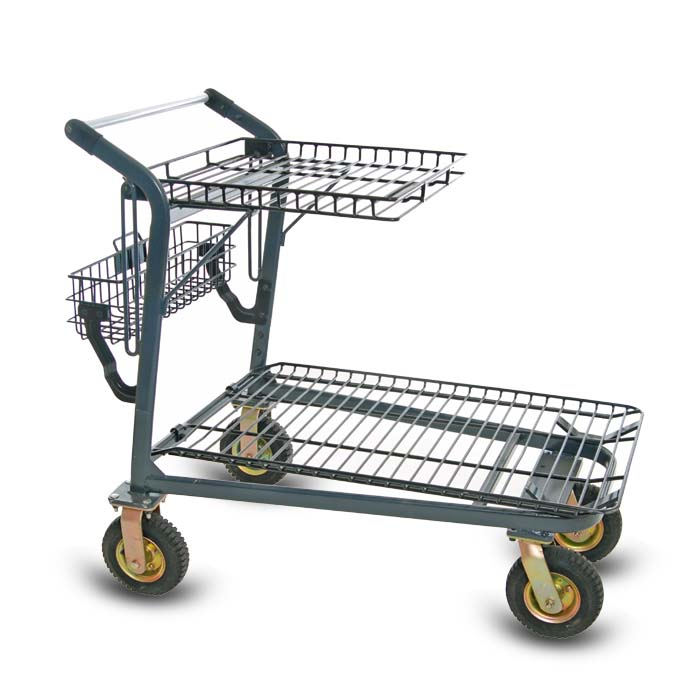 EZtote985 metal wire lawn and garden shopping cart