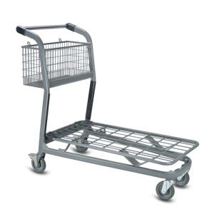 EZtote7250 metal wire material handling shopping cart in Grey
