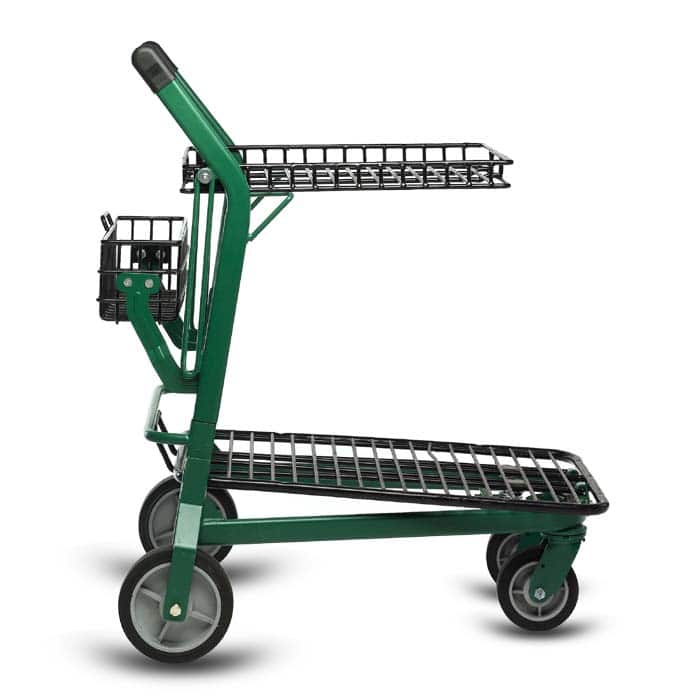 EZtote770 metal wire lawn and garden shopping cart in Dark Green/Black