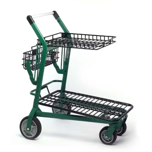EZtote770 metal wire lawn and garden shopping cart in Dark Green/Black