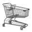 S Series 180 Liter Metal Wire Shopping Cart