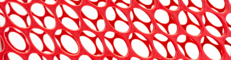 close up of Versacart signature plastic pattern
