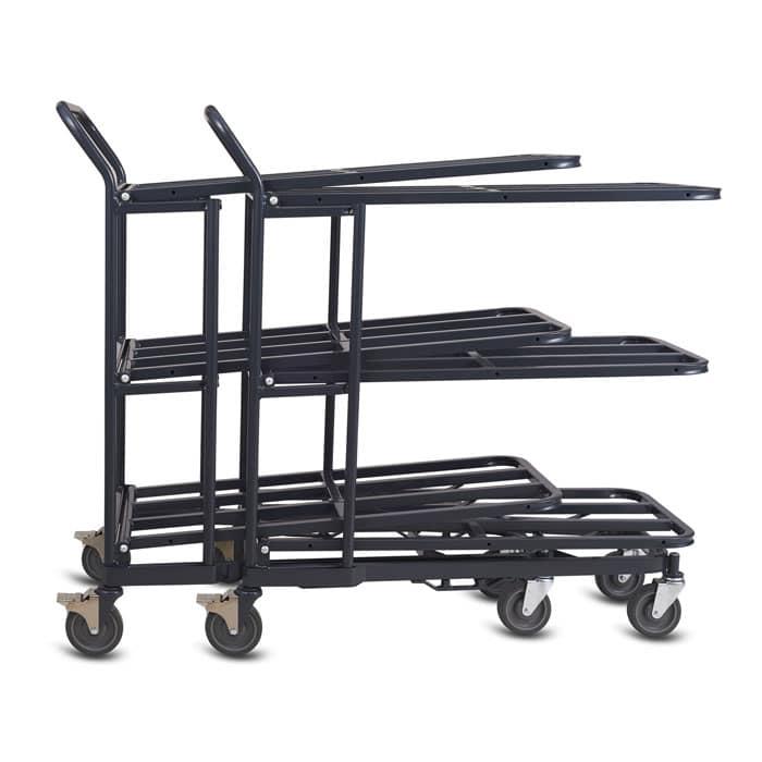 Nesting Stocking Cart Model 33F in dark grey