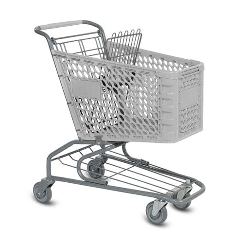 V Series 100 Liter Plastic Grocery Shopping Cart