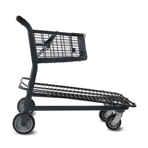 EZtote848 metal wire material handling shopping cart with child seat in dark grey