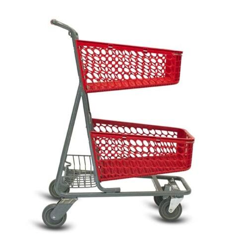 TT-100-S-T Plastic Convenience Shopping Cart