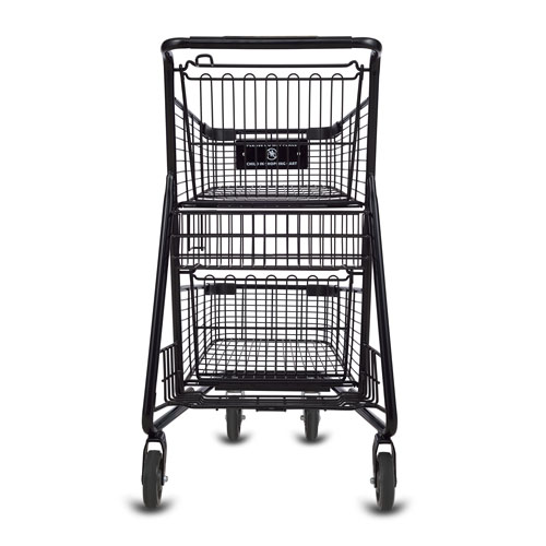 EXpress5150 metal wire convenience shopping cart in black