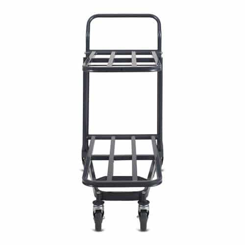 Retractable Nesting Stocking Cart Model 32R in dark grey